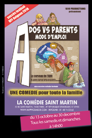 Affiche du spectacle : Ados VS Parents : Mode d'emploi