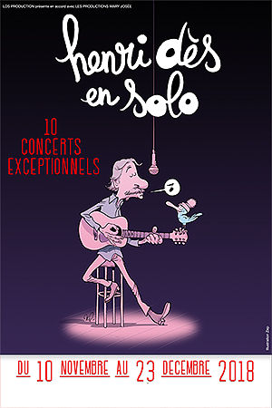 Affiche du spectacle : HENRI DES EN SOLO