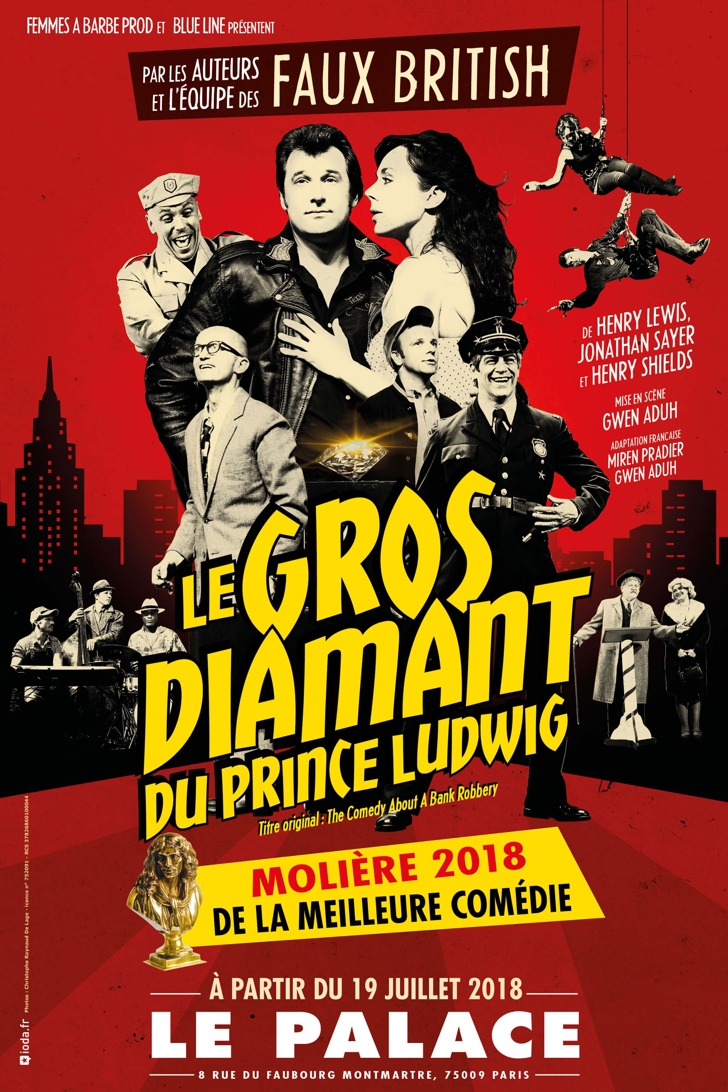 Affiche du spectacle : Le Gros Diamant du Prince Ludwig
