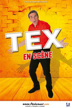 Affiche du spectacle : Tex en scène