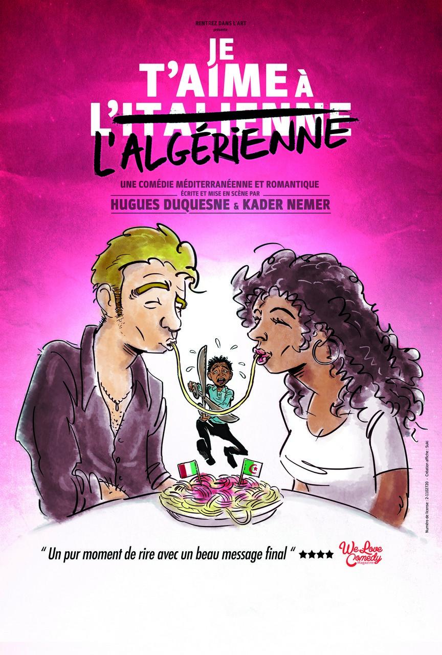 Affiche du spectacle : Je t'aime à l'italienne