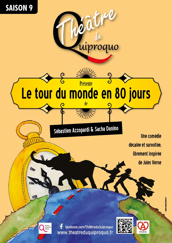 Affiche du spectacle : Le tour du monde en 80 jours